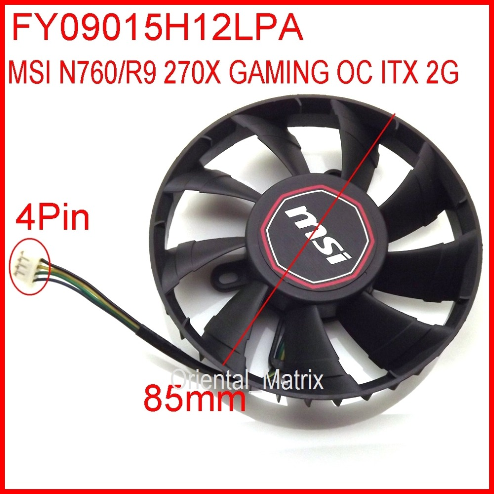 Free Shipping Coolermaster FY09015H12LPA DC12V 0.45A For MSI N760 2GD5/OC ITX R9 270X GAMING 2G ITX Graphics Card Cooler Fan