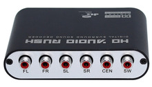 5.1 Channel AC3/DTS Digital Audio Converter Gear Surround Sound Rush Decoder HD Players For PC DVD Headphone
