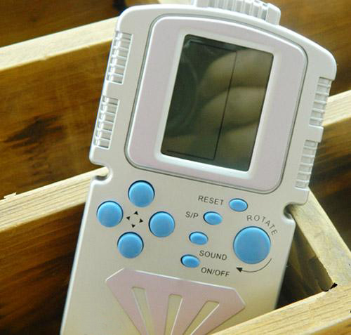 Childhood fun Classic Game Player Backlight Handheld Tetris Game Console Free Shipping