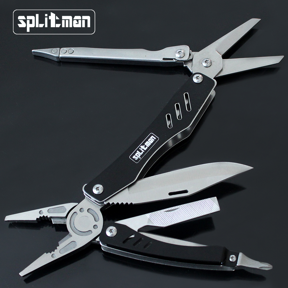 EDC Multitool Folding Knife Survival Tools Plier Pocket Scissors Camping Fishing Combine Multifuntional Pliers Screwdriver Bits original ganzo multi tool knife pliers 22in1 edc hand tool set pliers 440c 58hrc g202b g202 multifunctional hand folding plier