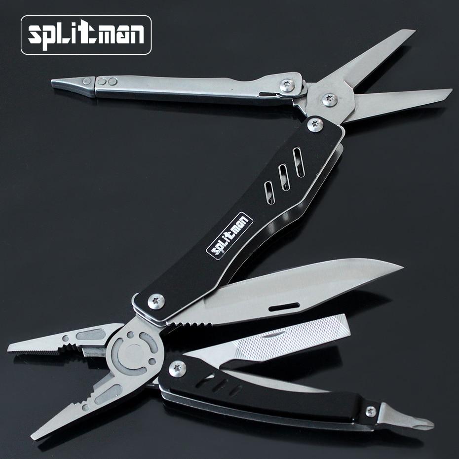 EDC Multitool Сгъваеми ножове за оцеляване Инструменти Плоскостъпителни джобни ножици Къмпинг Риболовен комбайн Многофункционални клещи Отвертка