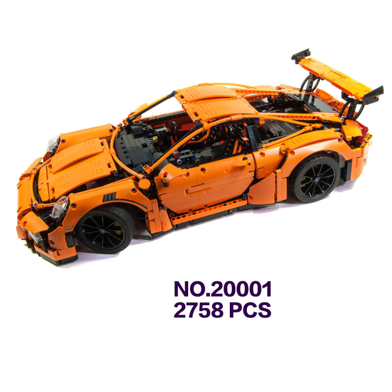 Hot sale car-styling technics simulation 1:8 scale wheel super sport cars 911 building block model bricks 42056 toys collection 1 18 otto 2014 renault rs 01 super sports car resin model simulation models