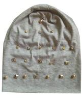 B-17905 мода 100% хлопок Хорошие эластичные четырехгранный шип шапочки gold spike перл панк hat твердые шапочка дизайн пользовательского