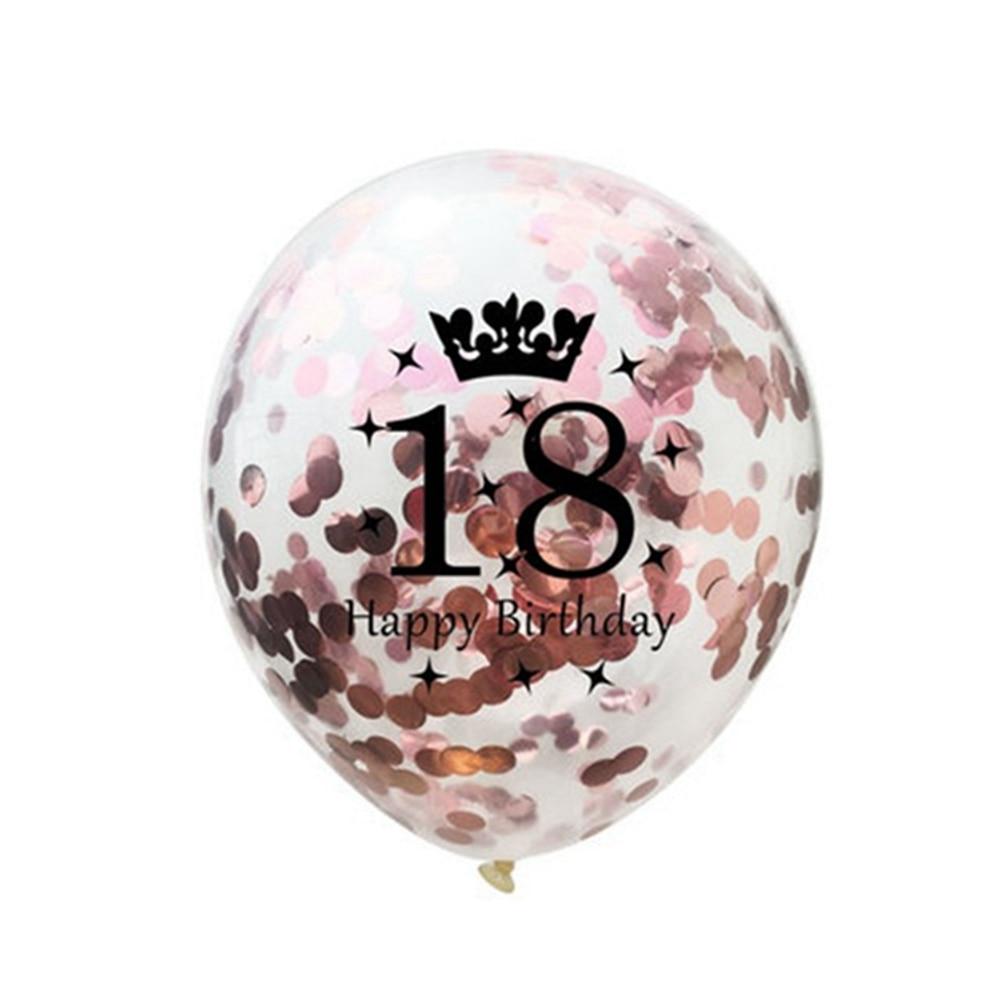 Yoriwoo 10pcs 12inch Rose Gold 30th Birthday Balloons 18 21 40 50