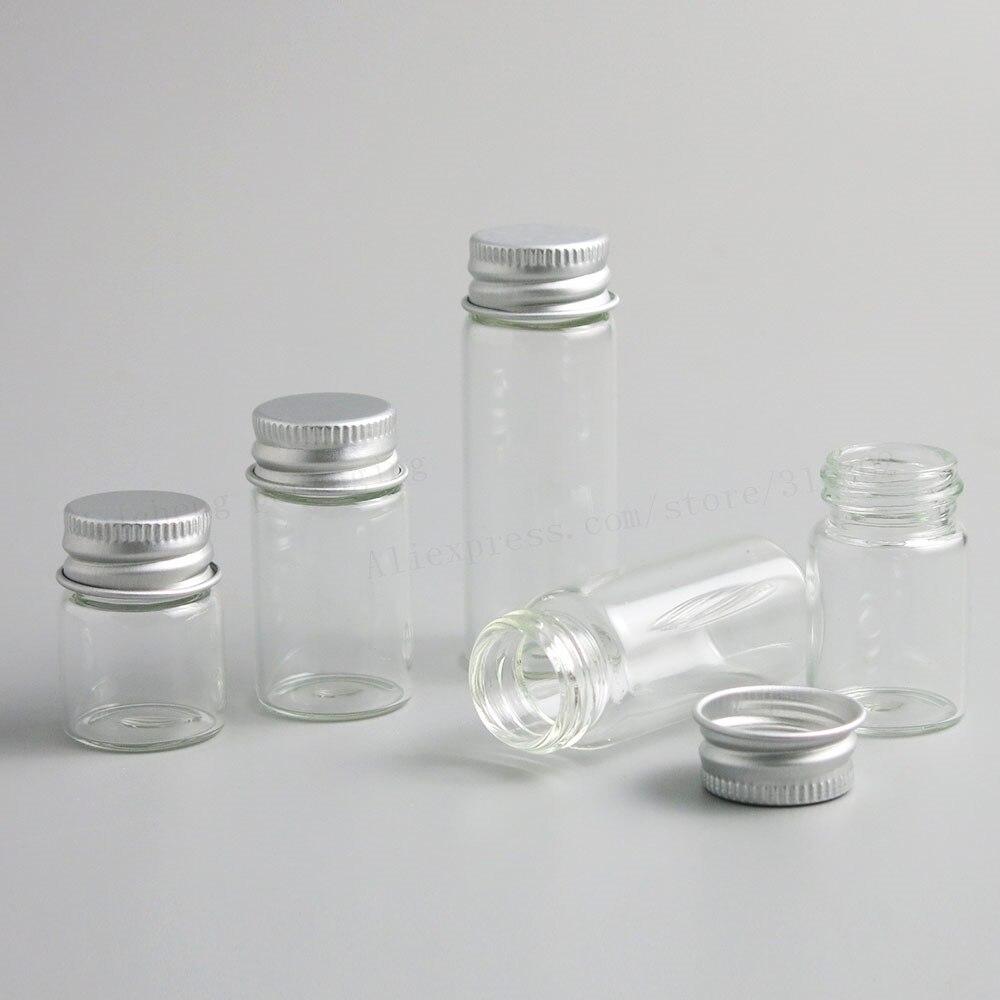 50 x Vazio 5ml ml ml 10 7 6ml ml Garrafa De Vidro Transparente Com Tampa De Alumínio 1 14 /3oz Pequeno Frascos de Vidro Pequeno Para O Uso do Óleo Essencial