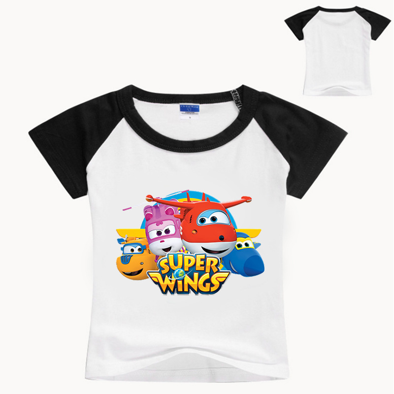 Toddler Shirts Costume Super-Wings Girls Tops Kids Cottons Summer Sport 2-16Y Tees Tiny