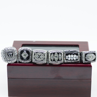 Drop Shipping 6pcs Set Oakland Raiders Replica Championship Ring Set