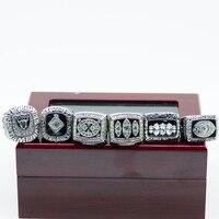 Drop Shipping 6pcs Set Oakland Raiders Replica Championship Ring Set