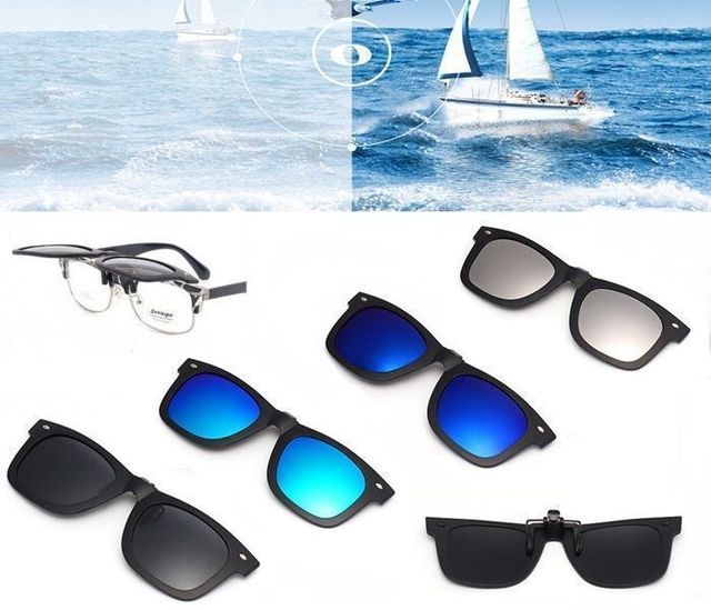 3ea8b45d25b Outdoor Polarised Polarized Lens Flip-up Clip-on Sunglasses Shades Glasses  +Case