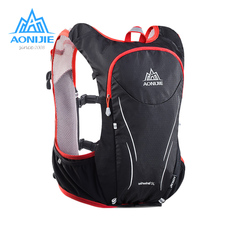 AONIJIE 5L Women Men Marathon Hydration Vest Pack For 1.5L Water Bag Cycling Hiking Bag Outdoor Sport Running Backpack стоимость