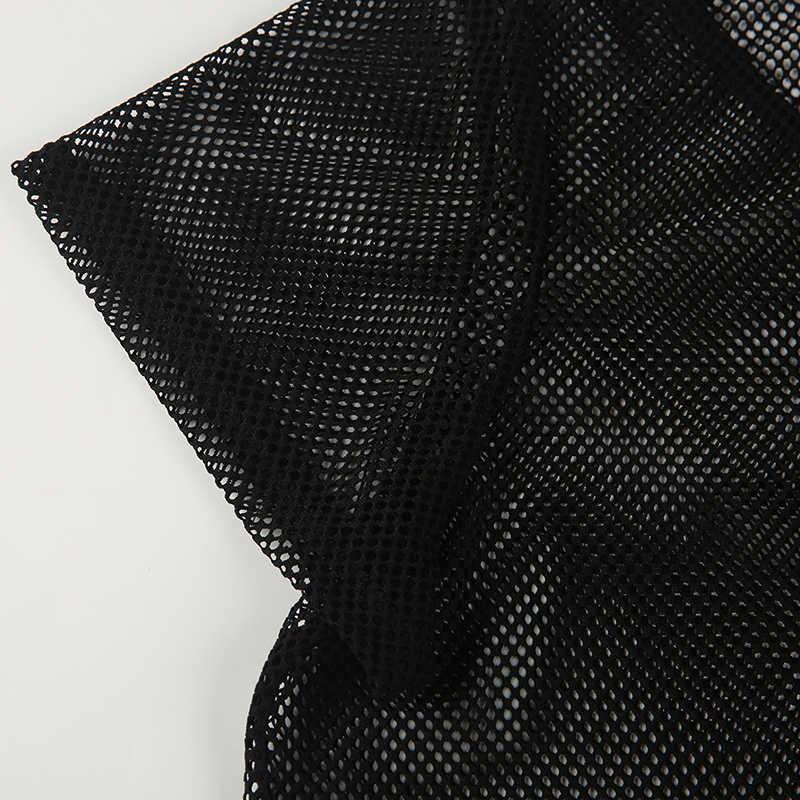 Kissmilk плюс размеры сетки Sheer молния сзади основные для женщин топы корректирующие O средства ухода за кожей шеи короткий рукав пикантны