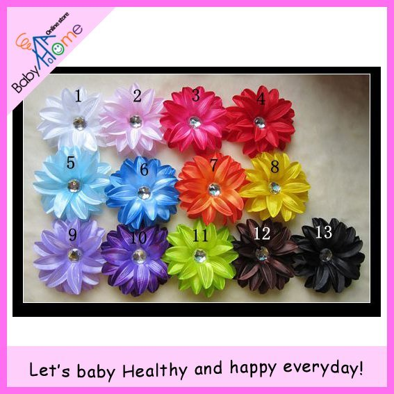 Baby Girl's Hair Accessories 65pcs/lot Tropical lily Flower Flowers Baby Girl Hair Bows Clips Accessories Free Shipping.