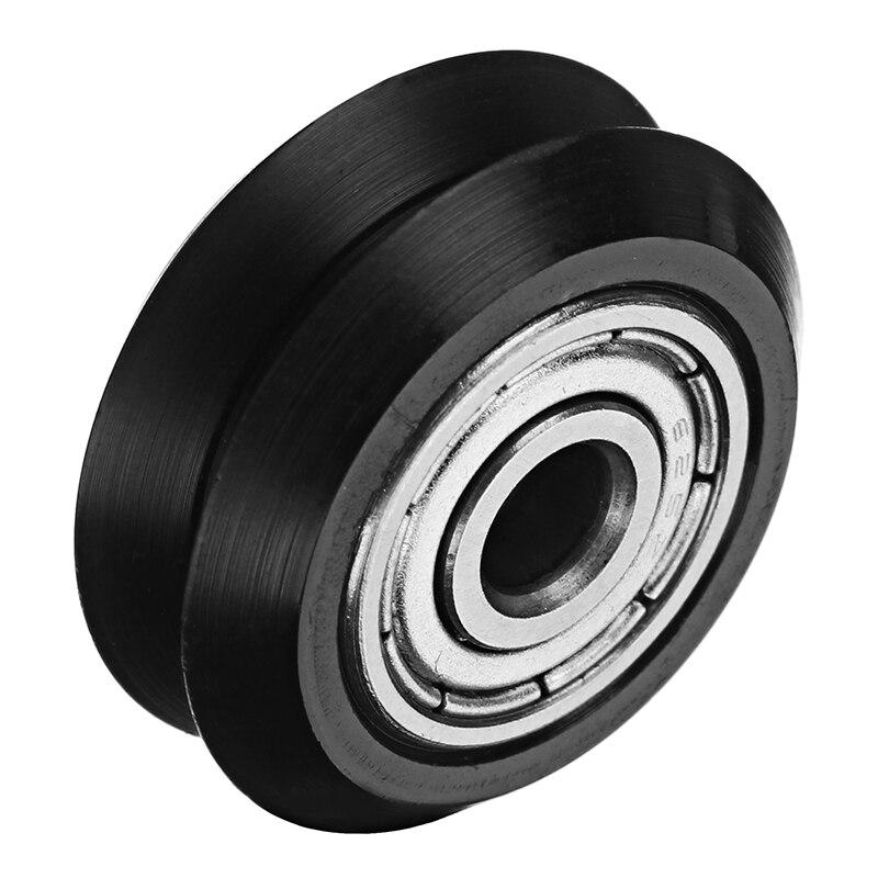 High Quality 1pc 5mm POM Black Idler V Type Wheel Wheels CNC Engraving Millling Machine Accessories