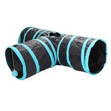 Dog Cats Tunnel Toys Pet Cat Outdoor Training Toy Kitten Rabbit Funny Dogs 3-hole Supplies