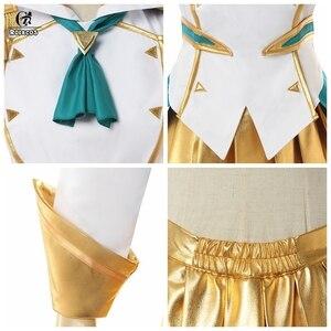 Image 5 - ROLECOS Disfraz de Battle Academia Lux para mujer, LoL Lux, Cosplay, Lux Prestige Edition, traje de mujer, falda de Halloween