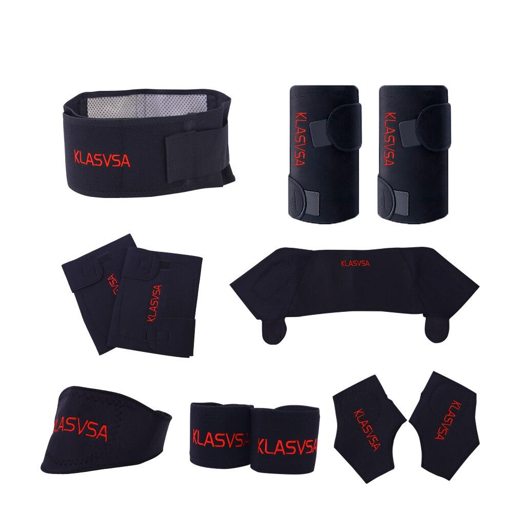 11 teile/satz Selbst heizung Turmalin Gürtel Magnetische Therapie Hals Schulter Haltung Correcter Knie Unterstützung Klammer Massager Produkte