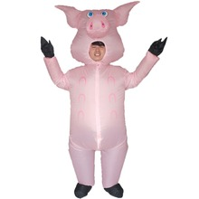 Pink Pig Inflatable Pig Costumes for Adults Animal Halloween Carnival Cosplay Party Fancy Dress Women Men Birthday Outfits Pink chicken inflatable rooster rider costumes for adults halloween carnival cosplay party fancy dress women men birthday outfits red