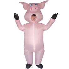 Pink Pig Inflatable Pig Costumes for Adults Animal Halloween Carnival Cosplay Party Fancy Dress Women Men Birthday Outfits Pink(China)