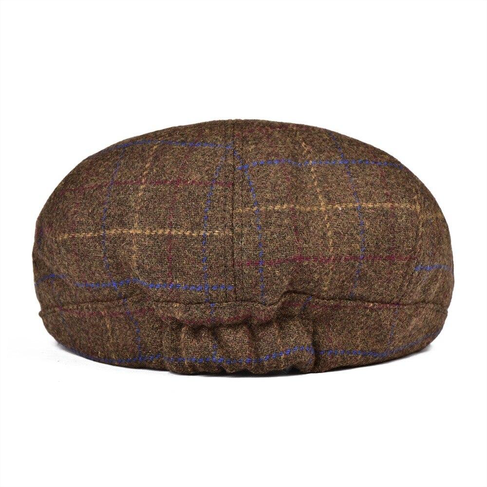 VOBOOM caliente vendedor tapas de los hombres de lana Tweed Boina ... f58e94b7e04