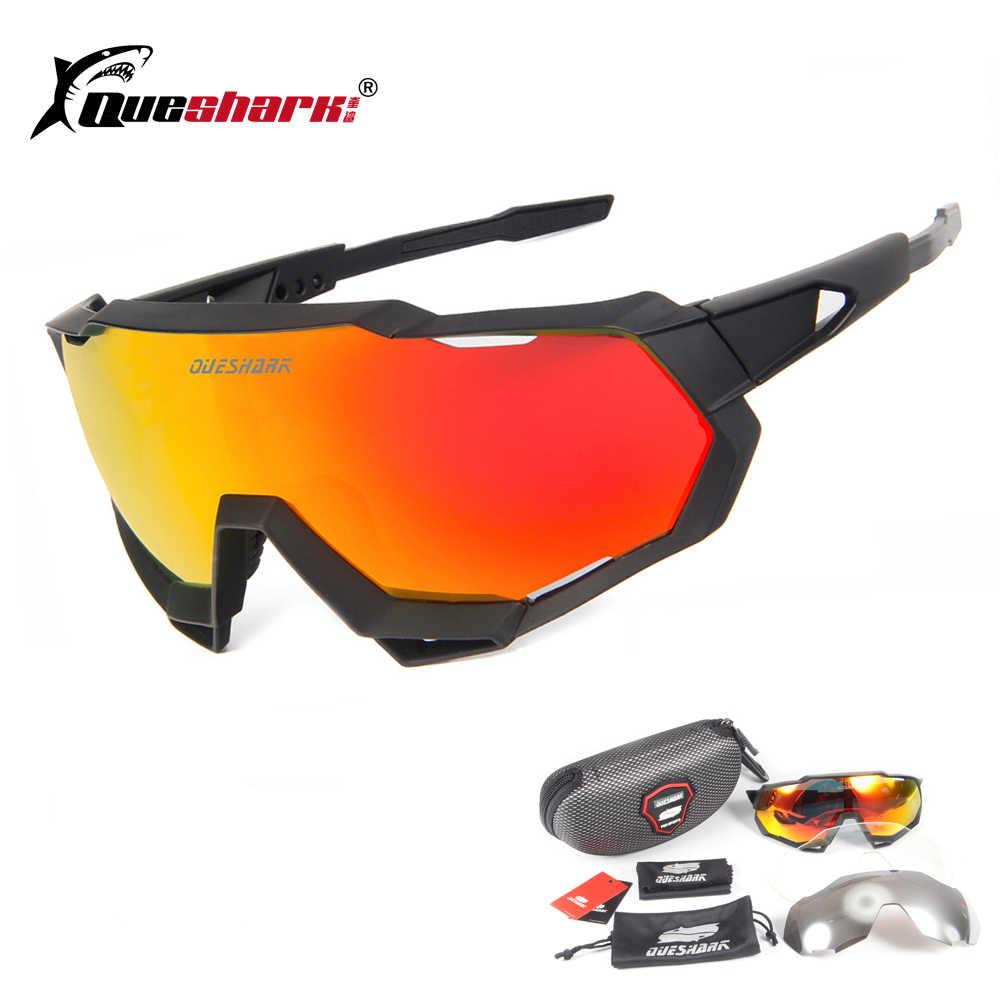 746603bcbf Marca 4 lente hombre mujer ciclismo gafas de sol Uv400 polarizadas bicicleta  deporte de carreras en