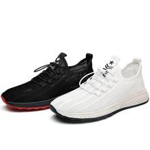 Hommes formateurs espadrilles décontractées hommes été respirant maille chaussures noir blanc mâle Tennis chaussure course sport homme baskets à la mode