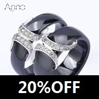 A-N-Wholesale-New-Women-Girls-Rings-Jewelry-Black-Ceramic-Stainless-steel-Simple-Rings-Personality-R