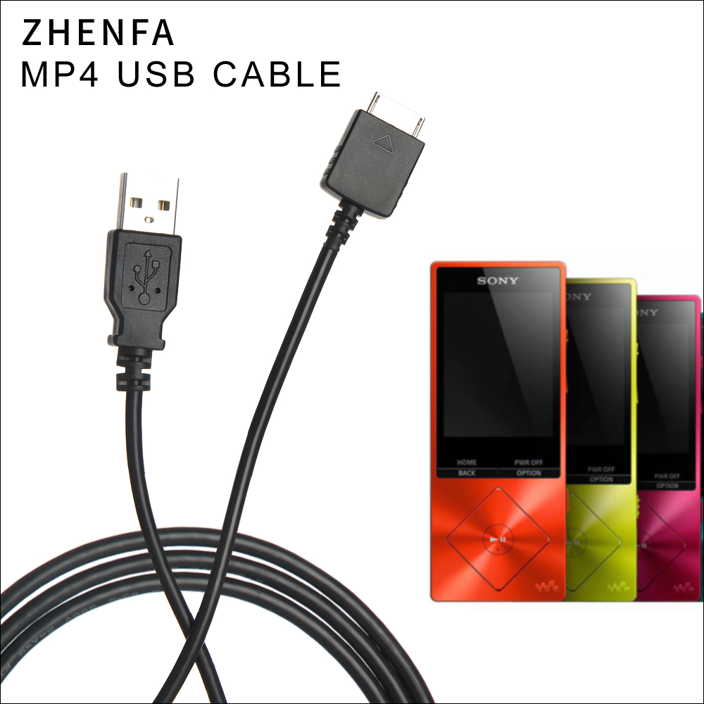 Zhenfa Data Sync/Charger USB Cable Cord For Sony Walkman MP3 MP4 Player  NWZ-A15 A17 A44 A845 A846 A847 NW-F885 NW-ZS1 NW-F886
