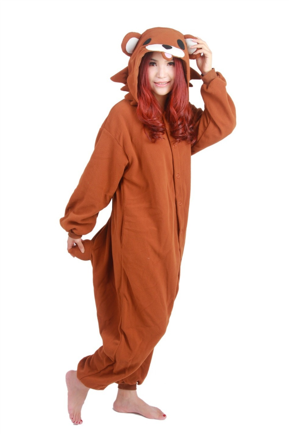 Bear Onesie Pajamas Anime Cosplay Costume Unisex Cartoon Pedo Adult Animal Onesies Pyjamas Sleepwears Romper Jumpsuit