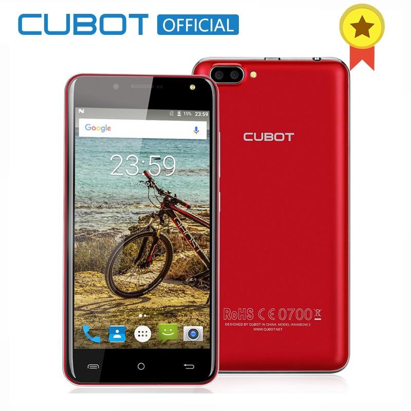 Arco Iris 2 5.0 Pulgadas HD Android 7.0 Smartphone CUBOT MTK6580A Quad Core Telé