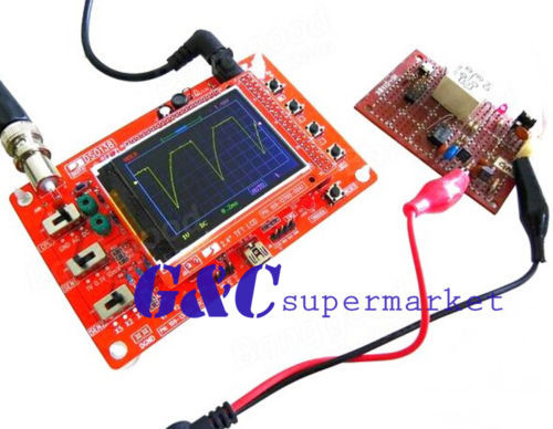 "DSO138 2.4 ""TFT Цифровой Осциллограф DIY Kit запчасти (1 Мгц) с датчиком + чехол"