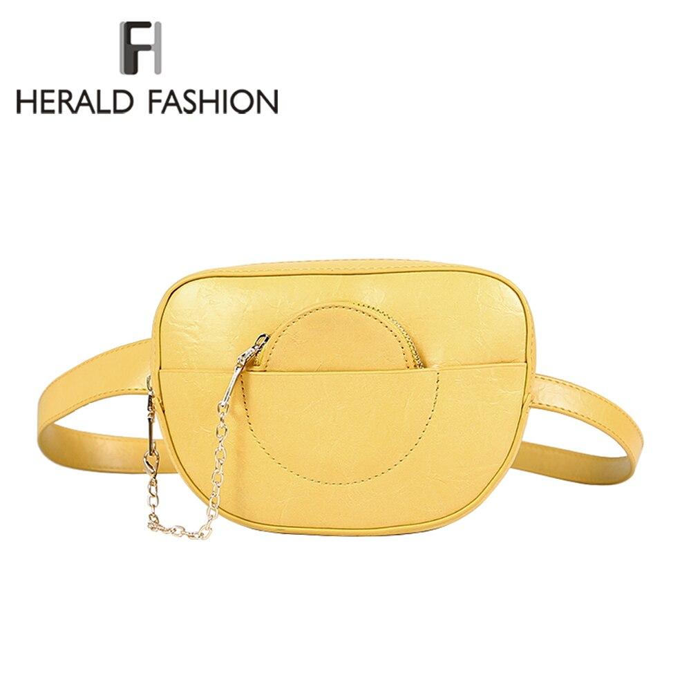 6bc982e6911e Herald модные женские туфли поясные сумки для телефона женский Fanny Packs  качество кожаная поясная сумка с