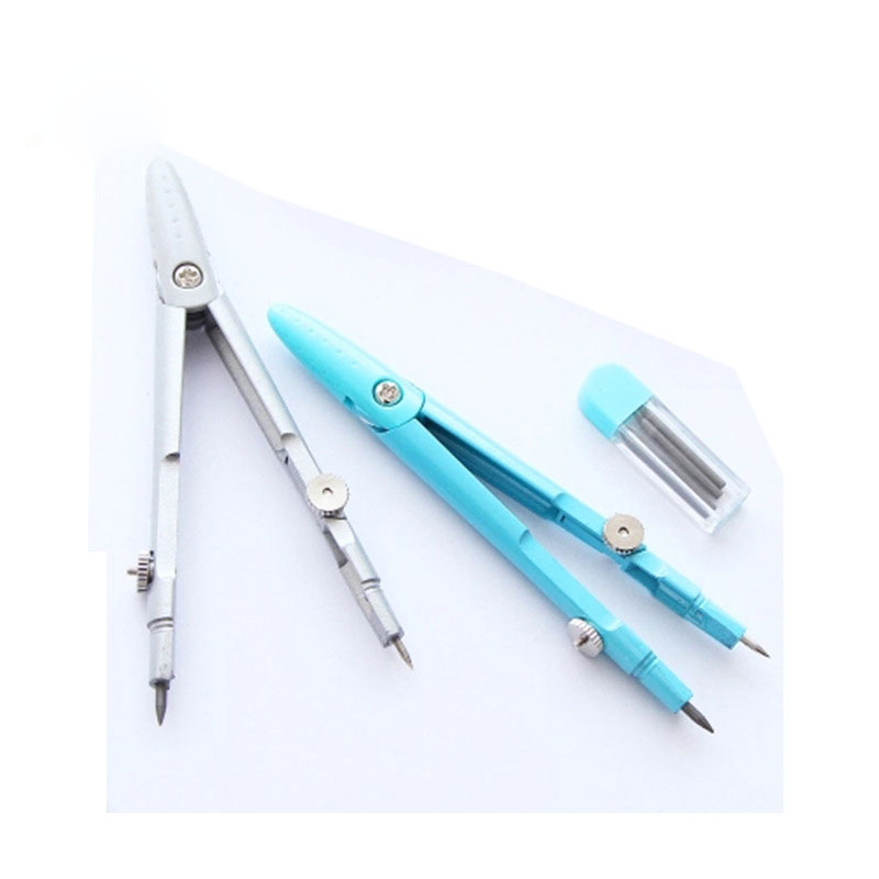 All-Metal Mathematical Compasses Painting Instrument With Lead Core Learning Stationery Office Supplies