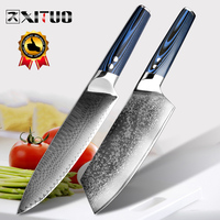 XITUO Chef's Knives vg10 Japanese Damascus Stainless Steel Kitchen Knife Professional Cooking Utensils Tool Blue G10 Handle New