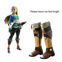 The Legend of Zelda Boots Breath of the Wild Cosplay shoes Adult Women Halloween Carnival Cosplay Costume Accessories Props