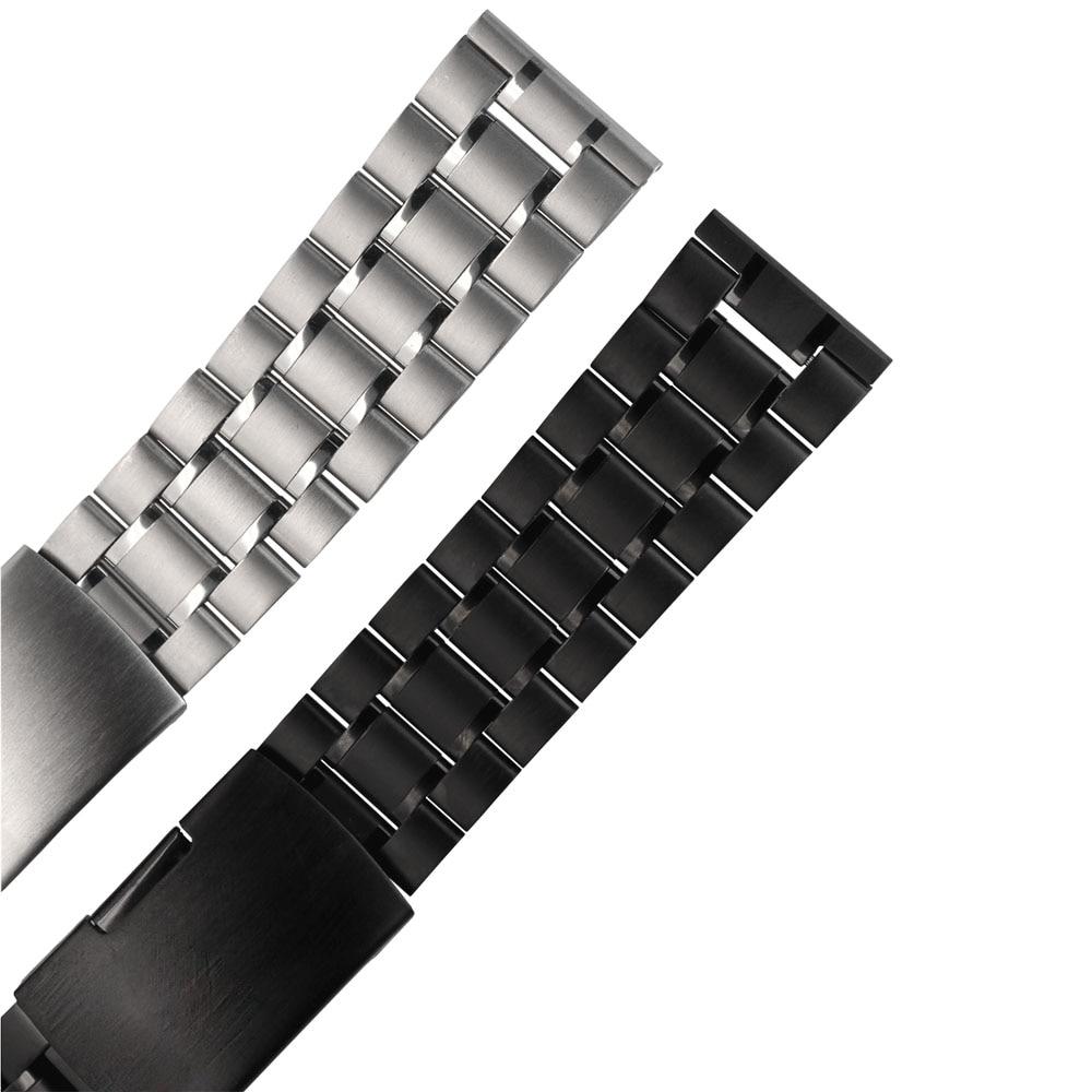 ZLIMSN rostfritt stål klockband 18mm 20mm 22mm 24mm 26mm svart - Tillbehör klockor - Foto 6