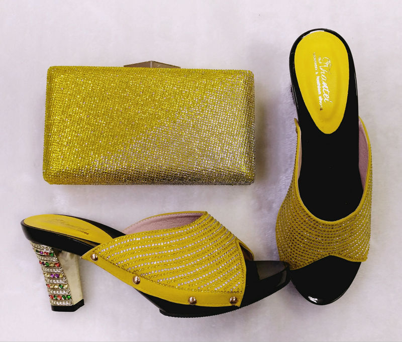 ФОТО Italian Shoe With Matching Bag New Design Ladies Matching Shoe And Bag Italy High Quality Wedding Sandal Shoes TH02-01