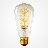 High Quality Vintage T64 Fireworks LED Edison Bulb Led Lamp Led Bulb Incandescent Light Bulb Decor