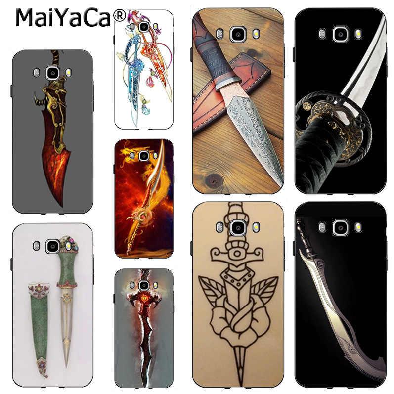 MaiYaCa нож-кинжал Роскошный чехол из мягкого ТПУ чехол для телефона чехол для Samsung Note 5 note8 j7 j6 j4 j2pro чехол coque