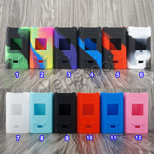 2pcs Silicone Case Skin for Smok R-Kiss 220W Mod Shield and High quality Non-slip Silicon Cover Warp Sleeve Fit Vape RKiss
