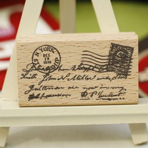 Mooie Houten Stempels.Us 11 99 20 Off Hoge Kwaliteit Vintage Brief Stempel Diy Postcard Of Bladwijzer Scrapbooking Stempel Mooie Houten Stempels Carimbos In Hoge