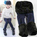 New Winter Fur Girls Leggings Children Pants KIds Thick Keep Warm Elastic Waist Colorful Cotton Leggings Girl Pants