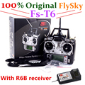 100% original FlySky  fs t6 with R6B Receiver RC Transmitter 6CH fly sky remote control and