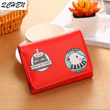 Women Wallets Small Fashion Brand Leather Purse Ladies Card Bag Women Clutch Bear Women Female Purse Money Clip Wallet 321