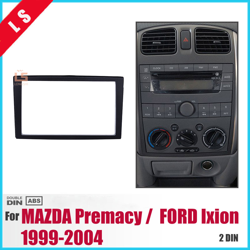 2DIN Car <font><b>Radio</b></font> Fascia for 1999-2004 <font><b>Mazda</b></font> Premacy <font><b>Dash</b></font> Player Auto Mount Installation Surround Trim Panel Face Plate <font><b>Kit</b></font> ,2 din image