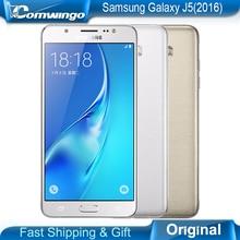 "Original samsung galaxy j5 (2016) teléfono 2 GB 16 GB ROM 5.2 ""pulgadas de Pantalla Quad Core Snapdragon de Doble Sim FDD LTE Smartphone"