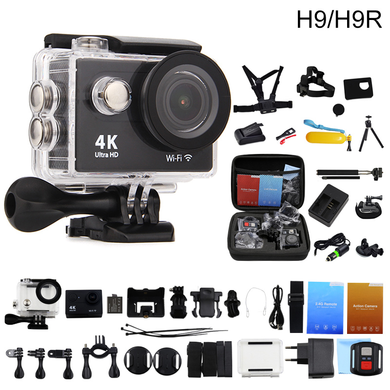 Original HuaGuo H9/H9R Remote Action Camera 4K Ultra HD WiFi 1080P/60fps 170D lens Helmet Cam Go Waterproof Pro Sports Camera