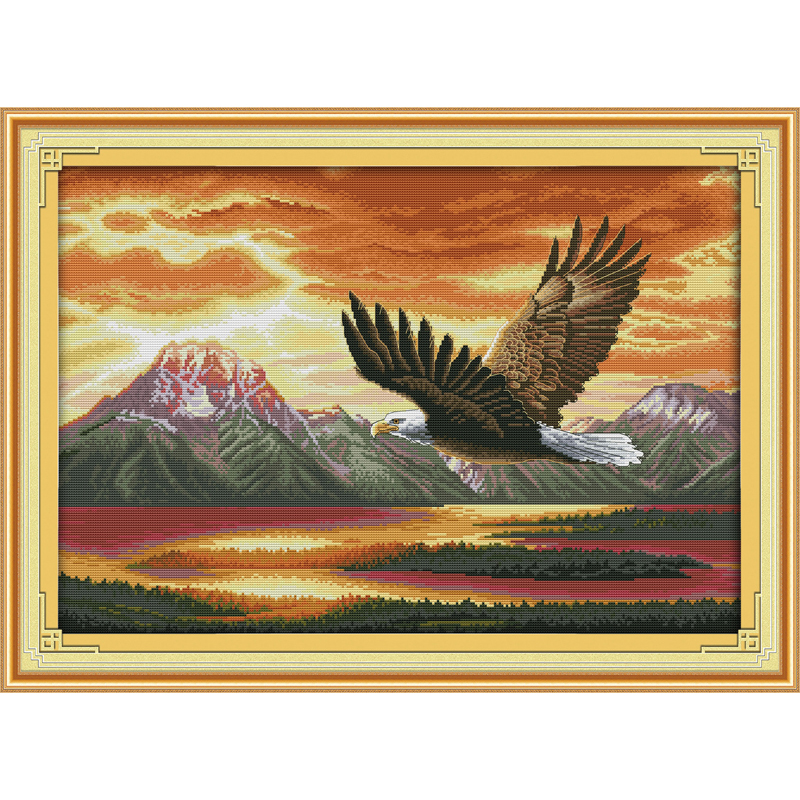 Everlasting love Christmas The flying eagle (2) Chinese cross stitch kits Ecological cotton stamped 11 New store sales promotion image