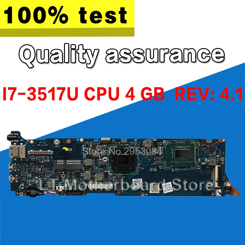 UX31A Motherboard 4GB REV:4.1 I7-3517U For ASUS UX31A UX31A2 Laptop motherboard UX31A Mainboard UX31A Motherboard test 100% OK original zenbook for asus ux31a laptop motherboard ux31a rev2 0 mainboard processor i7 4g memory 100