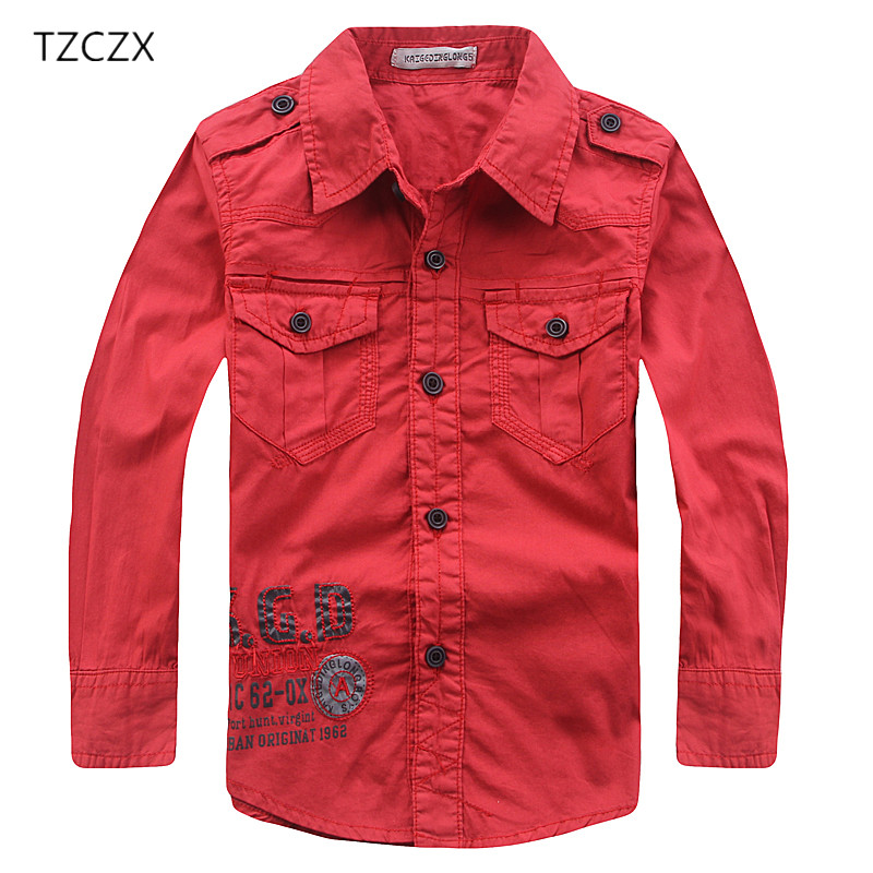 TZCZX-3025 Military style Children Boys Shirts Print Letters 100% Cotton Full Shirts For 4-10 years Old kids Wear Clothes бумажник constanta портмоне ab6823 page 4