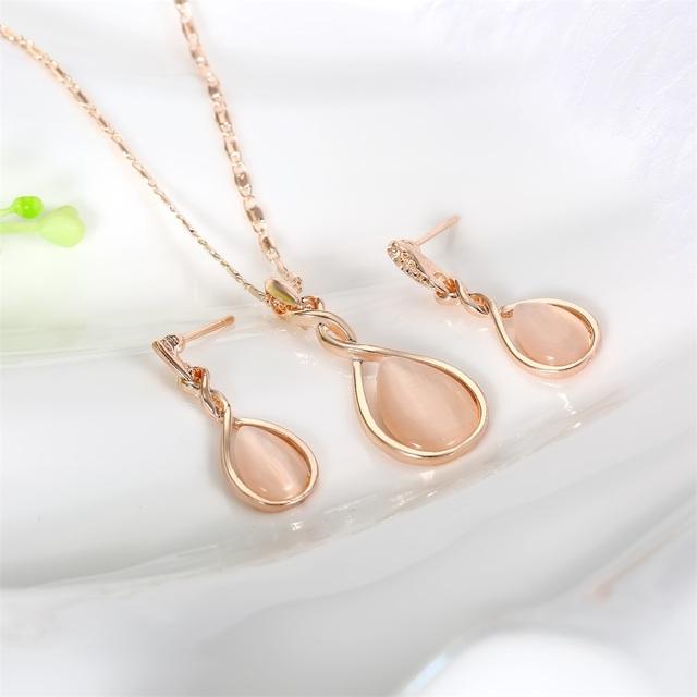 Framed Oval Opal Gemstone With Earrings